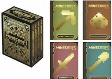 NEWEST Minecraft The Complete Handbook Collection Official Mojang 4 Book Box Set