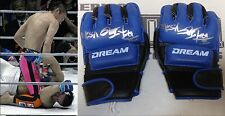 Shinya Aoki 2x Signed Dream MMA 4 Fight Worn Used Gloves PSA/DNA COA Pride Auto