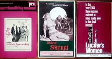 LOT OF 4 SEXPLOITATION UNCUT US PRESBKS NURSE SHERRI LUCIFER WOMEN FICKLE FINGER