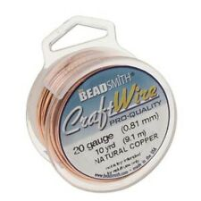 Craft Wire 18gauge (1.02mm) Copper Natural Beadsmith Pro Quality Non Tarnish