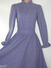 LAURA ASHLEY VINTAGE LAVENDER CLOVER FARMHOUSE PIN TUCK DAY DRESS,8/10 -Label 12