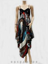 Robe déstructurée Satin collier FR T. UNIQUE = 38 40 42 44 46 Soirée NEUF Dress