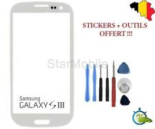 VITRE TACTILE SCREEN SAMSUNG GALAXY S3 GT- i9300 BLANC + OUTILS & STICKER 3M