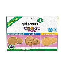 New Girl Scouts Cookies Oven Deluxe Refill  Chocolate Shortbread Trefoils Lemon