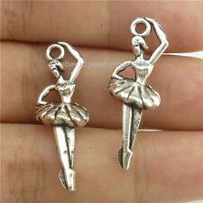 15044*30PCS Antique Silver Vintage Dance Ballerina Ballet Dance Pendant Alloy