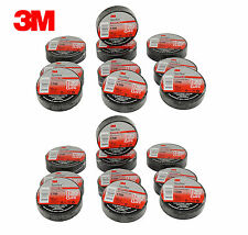 "20 ROLLS 3M TEMFLEX BLACK ELECTRICAL TAPE 1700 3/4"" X 60 FT FAST FREE SHIPPING"