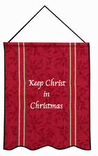 Keep Christ in Christmas Tapestry Bannerette Wall Hanging
