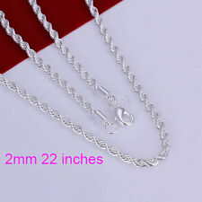 Panzerkette 925 Silber Weiss Unisex Silberkette Halskette Collier HOT SALE