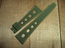 Rare find 22 mm Green racing GT Tropic watch strap band Sport large holes NOS