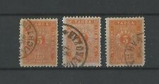 1893 Bulgaria Postage Due Stamps Thin Paper CBPS #T12 x3 used