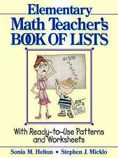The Elementary Math Teacher′s Book of Lists, Sonia M. Helton