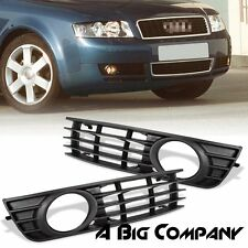 PAIR FRONT BUMPER LOWER FOG LIGHT GRILLE INSERT FOR AUDI A4 B6 SEDAN 2002-2005