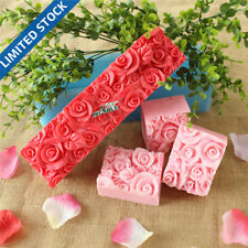 D0016 Nicole Rose Flower Custom Handmade Silicone Rubber Loaf Soap Molds