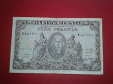 SPAIN P-118a BILLETE 100 PESETAS 1940 CRISTOBAL COLON MBC SERIE E 2496803