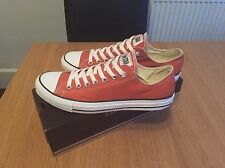 CONVERSE CHUCK TAYLOR LOW TOPS..RARE BURNT ORANGE..UK SIZE 9..BRAND NEW IN BOX!