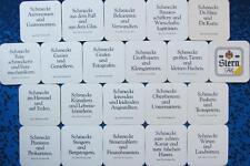 Bierdeckel Serie Sammlung - Stern Pils Essen - Sprüche 1981 - komplett 20 versch