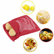 Potato Corns Bread Microwave Cooker Bag Washable Baked Cooking Roast New DB