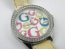 GUESS White Rainbow Leather Ladies W65008L1 Watch