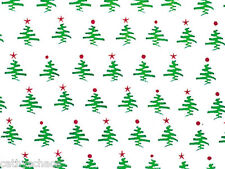 "25 Mod Holiday Christmas Trees Cellophane Bags 5x11"" Cello Candy Goodies Bags"