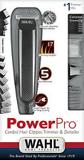 NEW Wahl 9686 Power Pro Corded Hair Clipper, Trimmer and Detailer Stainless