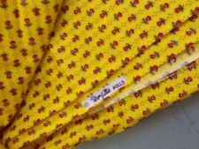 Vintage Wamsutta Mills Yellow Tulip Calico Fabric 1 1/2 Yds 100% Cotton Floral