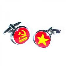 Russian Star with Hammer & Sickle CCCP Christmas Birthday Present CUFFLINKS Set
