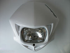 ENDURO ROAD LEGAL POLISPORT WHITE HEADLIGHT STREETFIGHTER DTR KLX KDX YZF WRF DR