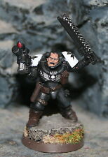 Warhammer 40k Black templar neophyte with Chainsword