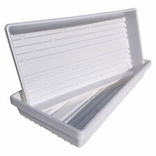 10 White 1020 Trays for Greenhouse, Garden, Hydroponics