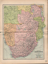 1903 MAP ~ BRITISH SOUTH AFRICA ~ ANGOLA TRANSVAAL