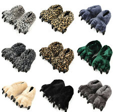 Funny Animal Paw  Leopard Claw  Lovely Cartoon Warmer Slippers Winter Soft Shoes