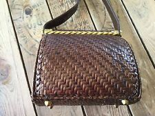 Vintage RODO Wicker Woven Glazed Straw Rattan Box Purse Handbag