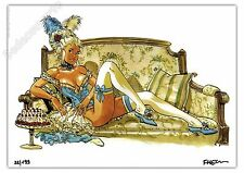 Ex-libris Meynet Pin-up 2017 Bourgeoisie 199ex signé A4