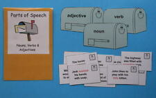 Teacher Made Literacy Center Resource Parts of Speech Nouns Verbs & Adjectives