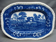 """Copeland Spodes Blue Tower 9 3/4"""" Serving Platter Oval Mark Free Shipping"""