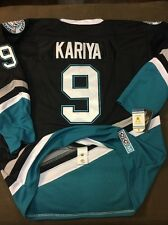 VTG CCM V Series Anaheim Mighty Ducks Paul Kariya NHL Jersey SZ 52 Fight Strap��