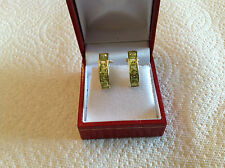 14K YELLOW GOLD EARRING WITH PERIDOTS
