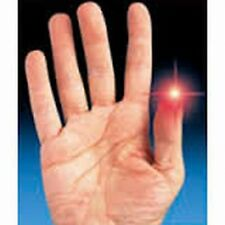 2 RED LIGHT THUMB GIMMICKS EXTRA BRIGHT & 2 EXTRA FREE BATTERIES USA SELLER!