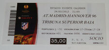 old TICKET EL Atletico Madrid Spain - Hannover 96 Germany