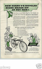 1956 PAPER AD Evans V8 Bicycle Tank Light Luggage Rack Olympic Automotive Design