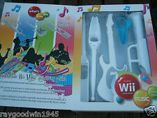 Wii GAMES CONSOLE MUSIC ACCESSORY PACK (EXSPECT) EXO16 TRUMPET,GUITAR ,DRUMSTICK