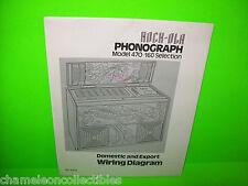 MODEL 470 By Rock Ola 1977 ORIGINAL Phonograph Music JUKEBOX SCHEMATIC Diagram