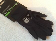 MENS QUALITY BLACK L/XL KARRIMOR SKI GLOVES GLOVE LINERS CYCLE HIKE LIGHTWEIGHT