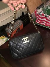 Authentic Chanel Black Caviar Handbag (Rare Classic Handbag) - Check Pictures