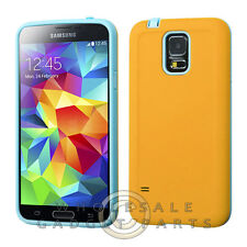 Samsung Galaxy S5 Advanced Armor Case-Yellow/Tropical Teal