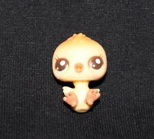 Littlest Pet Shop LPS Yellow & Orange BABY CHICK #2631 Blue Hazel Eyes RARE