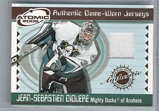 01-02 2001-02 ATOMIC JEAN-SEBASTIEN GIGUERE GAME-WORN JERSEY 1 PACIFIC DUCKS