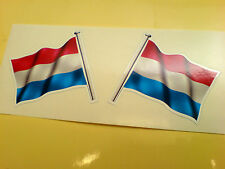 NETHERLANDS Flag & Pole Motorcycle Car Bumper Stickers Decals 2 off 60mm