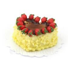 Miniature Cioccolato Bianco Torta A Cuore Decorazione Con Fragole
