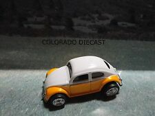 Loose Mint Hot Wheels Yellow/White Volkswagen Beetle w/Real Riders